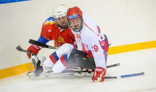 Сборная России в составе с 6 следж-хоккеистами  из Удмуртии обыграла шведов