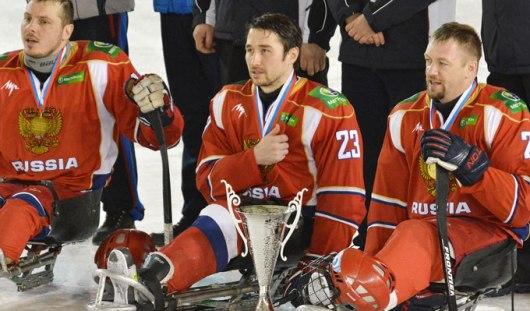 Сборная России со следж-хоккеистами из Удмуртии обыграла команду Чехии со счетом 6:0