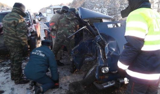 2 человека погибли после столкновения «шестерки» и «хендай» в Удмуртии