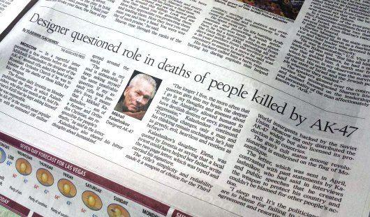 Крупнейшая газета Лас Вегаса рассказала о покаянном письме Михаила Калашникова