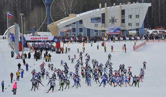 «Лыжня России» в Ижевске стартует вместе с Олимпиадой в Сочи