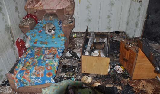 В Ижевске из-за включенного в розетку телевизора чуть не выгорела целая квартира