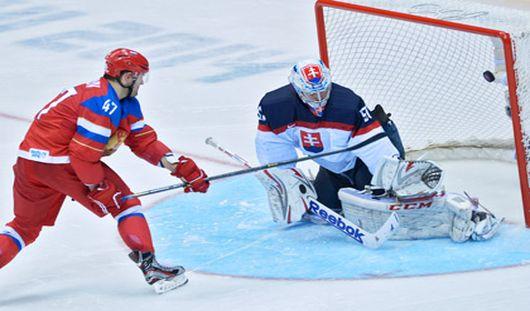 Хоккеисты сборной России выиграли у словаков на Олимпиаде в Сочи со счетом 1:0