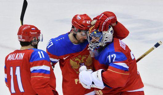 Сборная России по хоккею вышла в четвертьфинал на Олимпиаде в Сочи