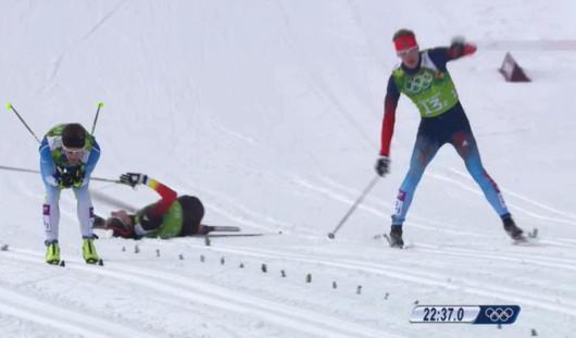 Лыжники Максим Вылегжанин и Никита Крюков выиграли серебро в командном спринте