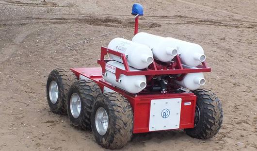 Робота-пожарного с видеокамерами и дистанционным управлением изобрели в Удмуртии