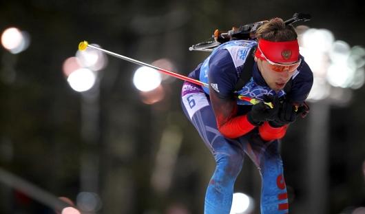 Российские биатлонисты выиграли золотую медаль в мужской эстафете