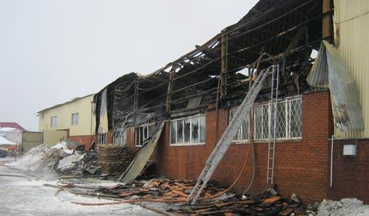 Пожар на мебельном складе в Ижевске ликвидирован