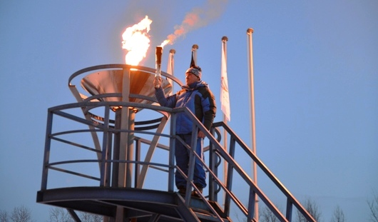 В Ижевске зажгли огонь зимней всероссийской Универсиады