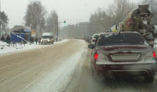 Всего за несколько часов из-за снегопада в Ижевске произошло более 40 ДТП