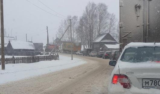 Из-за снегопада в Удмуртии задерживаются в пути рейсовые автобусы