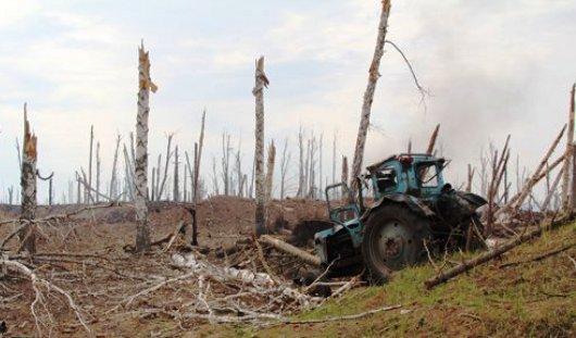 Жителей Пугачево испугали дым и взрывы в районе бывшего склада боеприпасов