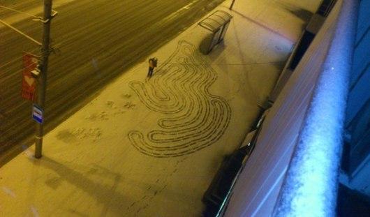 Рисунки на снегу и американские наемники на Украине: о чем этим утром говорят в Ижевске