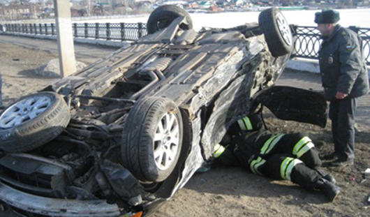 В Удмуртии перевернулся автомобиль