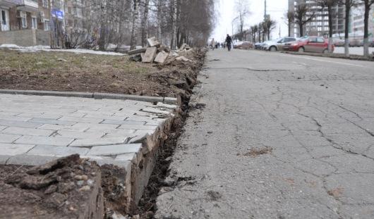 На улице Пушкинской в Ижевске появятся пешеходная и велосипедная дорожка