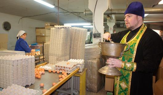 В канун Святой Пасхи птицефабрика «Чайковская» освятила всё яйцо