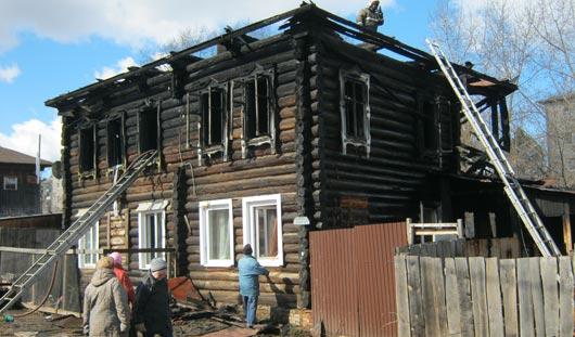 В Ижевске в доме из-за пожара взорвались газовые баллоны