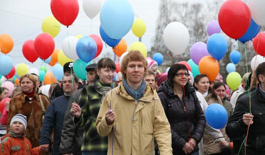 Ярмарка и демонстрация: в Ижевске празднуют 1 Мая