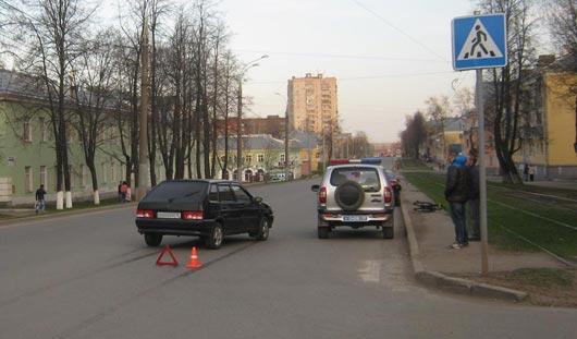 В Ижевске велосипедиста сбила машина