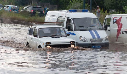 В Ижевске выпала почти половина месячной нормы осадков