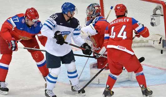 Сборная России по хоккею готовится к матчу со сборной США