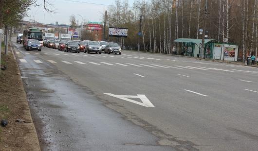 «Выделенка» для общественного транспорта на Удмуртской пока не работает