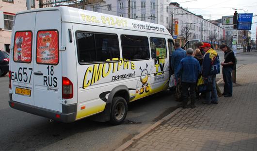 За 4 дня в Ижевске нарушили ПДД более 70 водителей маршруток