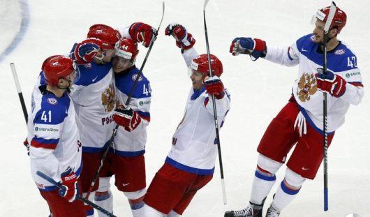 Сборная России по хоккею одержала победу в группе «В»