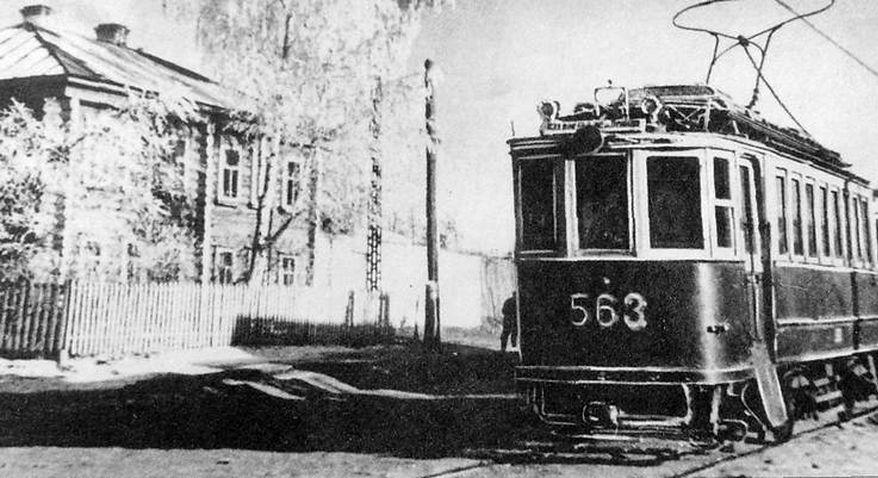 Булыжники для строительства дорог в Металлурге возили на трамваях