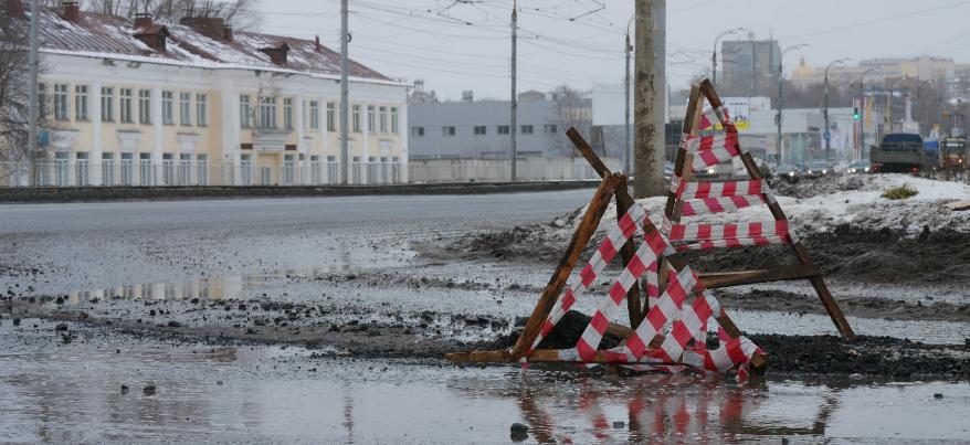 Ямы на дорогах Ижевска: будет ли проводиться ремонт дорог до весны?
