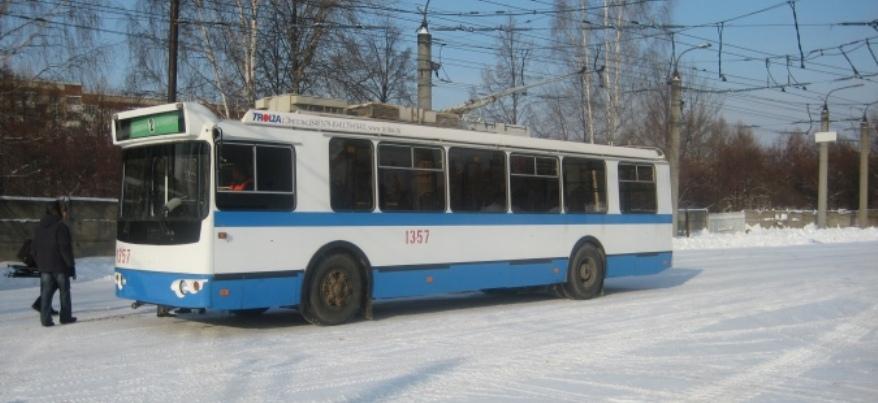 В Ижевске перекрыто движение 5 троллейбусов