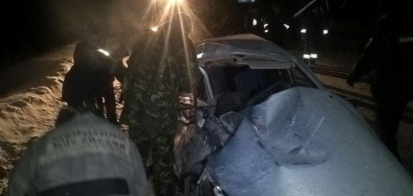 Под Ижевском столкнулись фура и два легковых автомобиля