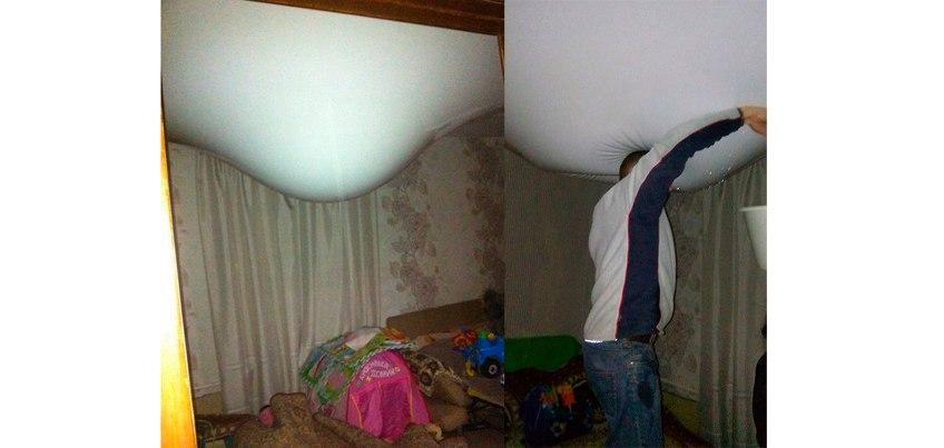 В Ижевске затопило дом, хлынувшим с потолка кипятком из труб отопления