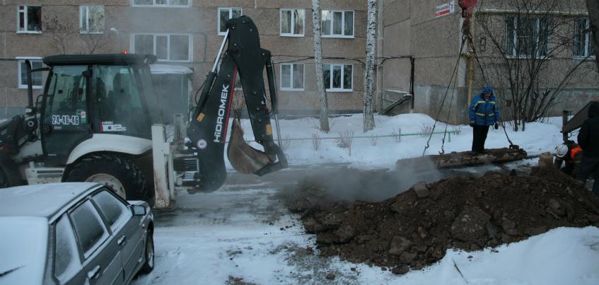 За 25 января в Ижевске устранили 24 повреждения на теплосетях