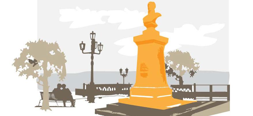 Агрессивный питбуль и разрушенная скульптура у Свято-Михайловского собора: о чем сегодня утром говорят в Ижевске