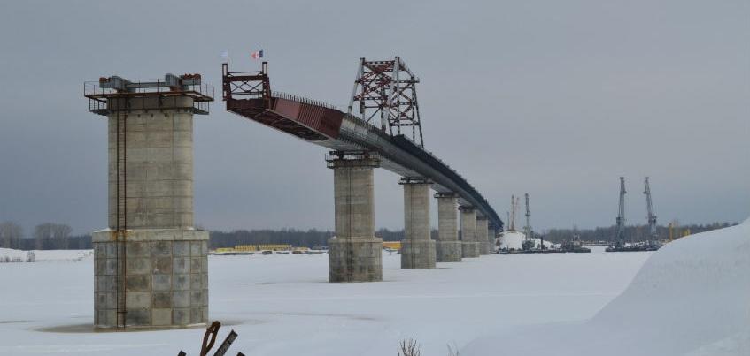 Сборку моста через Каму планируют завершить весной