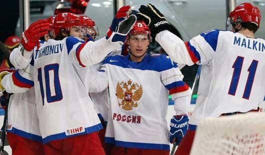 Сборная России выиграла все матчи группового этапа на ЧМ по хоккею в Минске