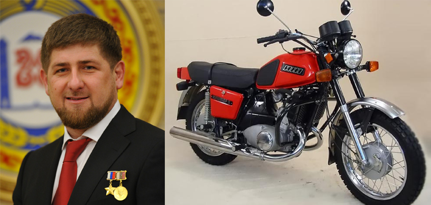 Рамзан Кадыров проехался на мотоцикле «Иж-Планета-5»