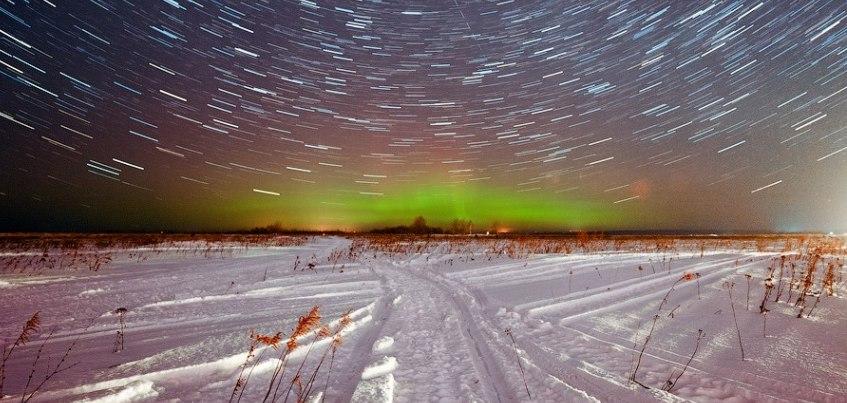 Ижевский фотограф создал видео из 288 фотографий с северным сиянием