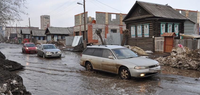 В Ижевске из-за плохого состояния асфальта закрыли движение по улице Партизанской