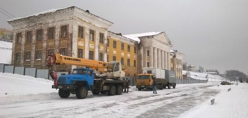 На набережной Ижевска началось строительство трехэтажного кафе