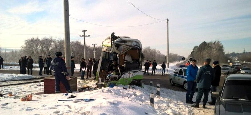 В Ижевске водитель автобуса, столкнувшегося с поездом, скончался в больнице