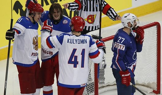 Сборная России по хоккею вышла в полуфинал Чемпионата мира