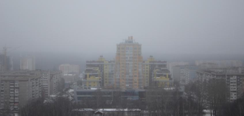 17 фотографий Ижевска, окутанного туманом