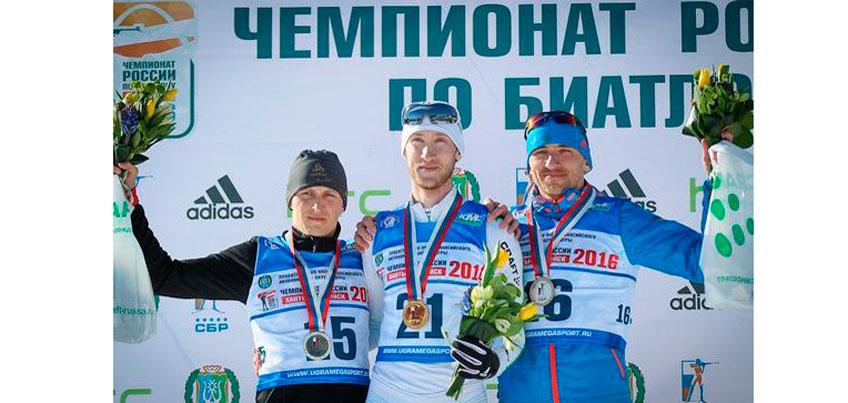 Биатлонист из Удмуртии Евгений Шамеев стал восьмым в масс-старте на чемпионате России