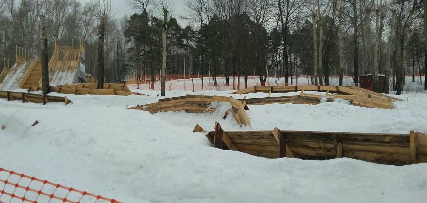 Что летом станет с деревянными конструкциями горок для тюбинга в «Козьем парке» Ижевска?