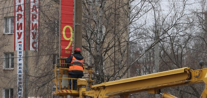 Фотофакт: В Ижевске начали подготовку к 9 Мая