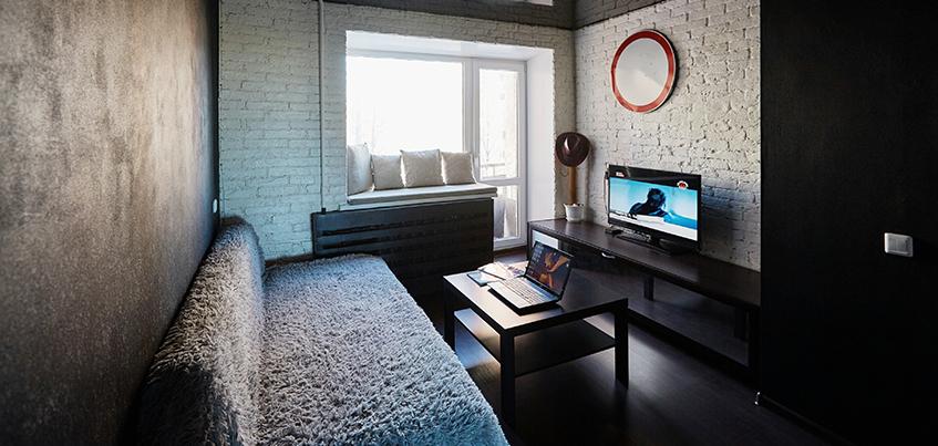 Красивые квартиры Ижевска: молодежная «однушка» в стиле «лофт»