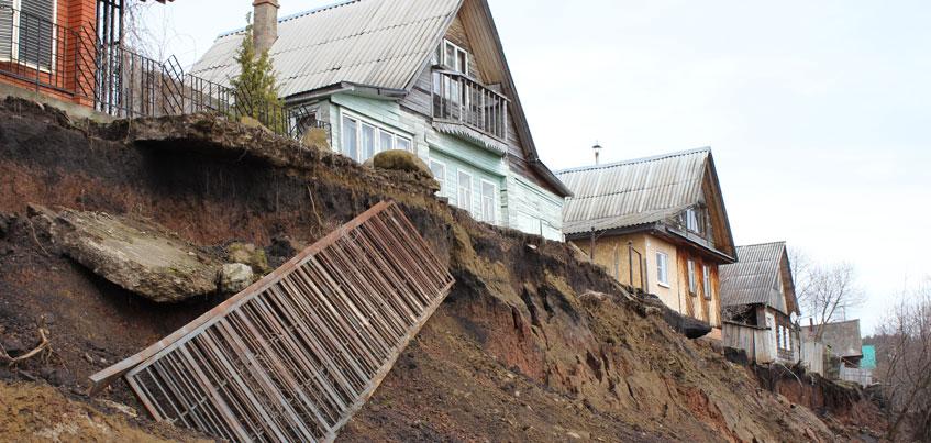 На ликвидацию оползня в удмуртской деревне Докша нужен 1 млрд рублей