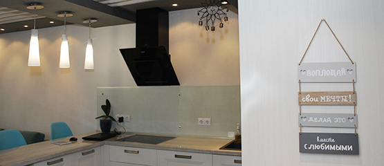 Красивые квартиры Ижевска: интерьер в стиле эко-лофт